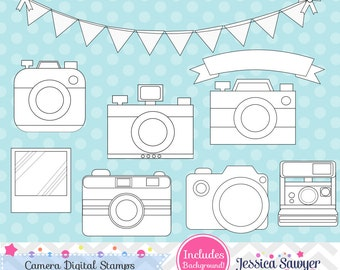 INSTANT DOWNLOAD, camera digital stamps for personal or commercial use