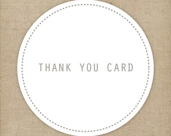 Personlized matching thank you note/ Matching folded thank you card | Printable only