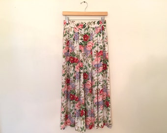 Vintage Floral Skirt / XSmall/Small / Vintage Maxi Skirt
