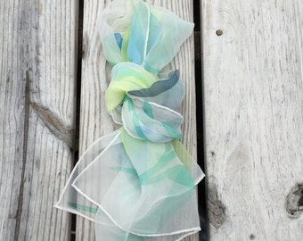 Scarf Water Color Scarf Sheer