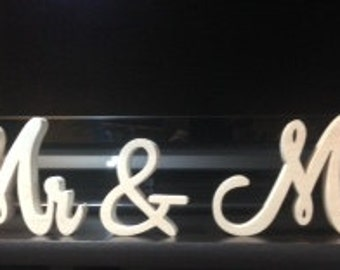 Script Mr&Mrs, Mr and Mr, Ms and Ms You Choose. Wedding decoration, wooden letters, wood sign for sweetheart table, wedding sign