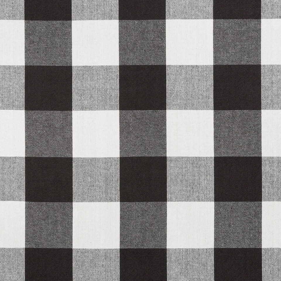 Black white cotton plaid upholstery fabric large scale plaid for Black and white fabric