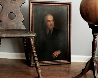 Claude Buck Oil Painting of John A. Campbell. Chicago, 1932. For Vanderpoel Art Gallery