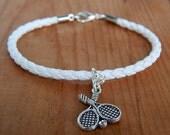 Women's Tennis Bracelet, Women's Sport Bracelet, Men's Eco Leather Bracelet