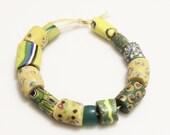 Millefiori Beads, Antique Venetian Trade Bead Assortment, African Jewelry Supplies (K82)