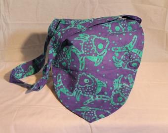 Purple Fish Knot Bag