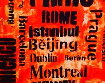 11x14 Org. Mixed Media Art-Chicago-Rome-Amsterdam - Travel Art-  mod-Rustic - new Old-Post box red