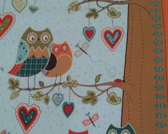 Youth Chart/ Owls/ wall hanging