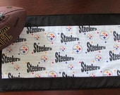 Pittsburgh Steelers handmade quilted table runner.