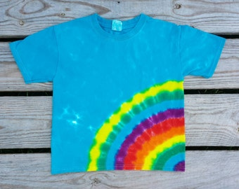 Toddler  Side Rainbow Tie Dye T-Shirt ,  Available Sizes 2T 3T 4T 5/6 ,  Tie Dye Shirt, Hippie Kids