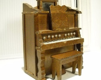 Vintage miniature piano, 1:12 scale