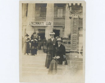 Cincinnati Day, c1910s Vintage Snapshot Photo (57391)