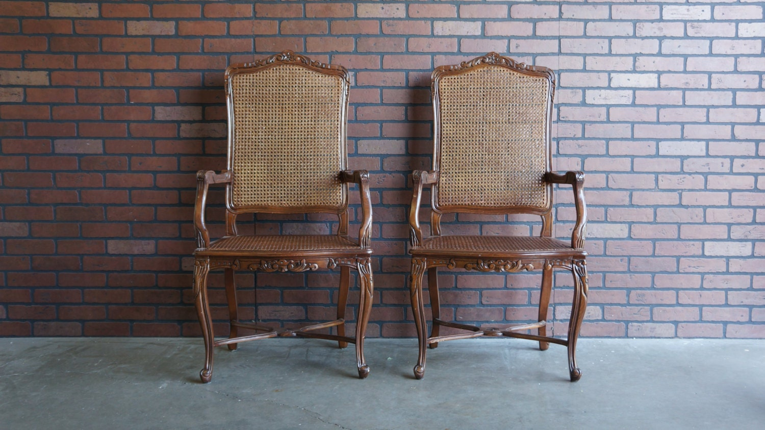 French Cane Chair french provincial dining chairs / cane dining chairs / french