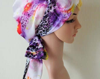 Silky Tichel, Satin Head Scarf , Headscarf, Hair Wrap, Natural Curly Hair Scarf, Women's  Head Covering, Head Snood, Sleeping Bonnet