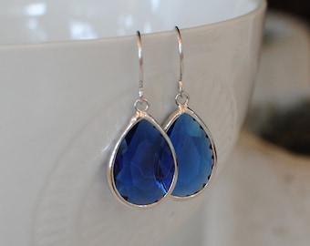 The Tyller Earrings - Sapphire