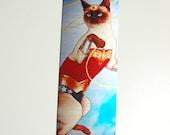Wonder Cat Metal Bookmark