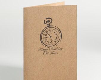 Happy Birthday Old Timer Birthday Card
