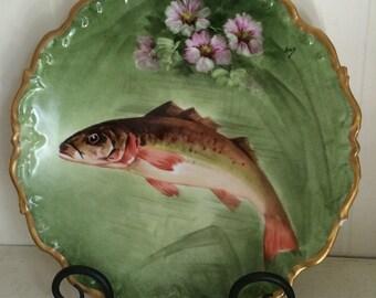 Limoges Old Abbey Porcelain Plate - Signed