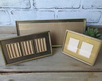 Three Vintage Frames Of Unusal Size and Shape Mismatched Gold Frames