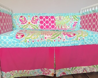 Kumari Garden Custom Crib Bedding