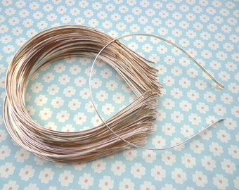 Gold headbands--50pcs 3mm gold metal headbands