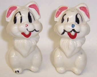 American Bisque Walt Disney Productions THUMPER Salt and Pepper Shakers