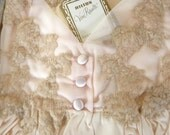 Vintage Hilton NightGown, Romantic Soft Peach, Lace and Nylon Long  Nightie, New Unused Vintage, Size OS, Bridal Lingerie, Original Box