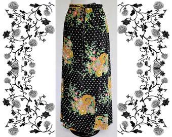 "1970's Vintage ""Goldix Modell"" Maxi Cotton Skirt"