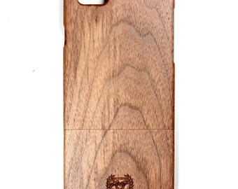 iPhone 6 plus walnut phone case