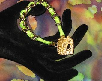 Bracelet: Chunky-Spunky Lime-green Remodel