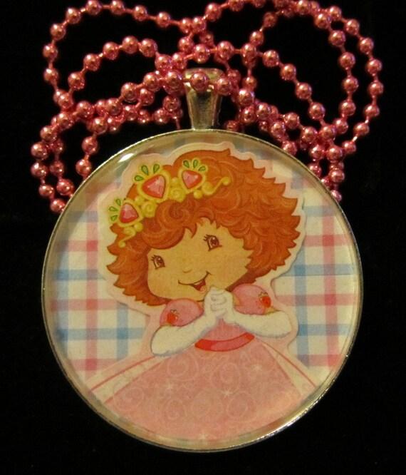 Strawberry shortcake necklace strawberry princess for Strawberry shortcake necklace jewelry