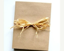 ON SALE Brown Bag Envelopes for A2 Size Cards,  100% Recycled,  Set of 10, Supply