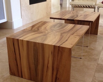 Modern coffee table with acrylic base