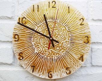 The Gold Sun Wall Clock Home Decor for Children Baby Kid Boy Girl Nursery Playroom