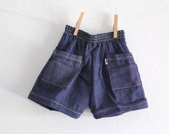 SALE 50 OFF Vintage Baby Shorts Blue Jeans Shorts 24 Months Baby Boy Shorts New Old Stock