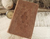 Antique 1869 Bible / Brown Leather and Gold Details / American Bible Society / Old and New Testaments/ Library Collection / Origial Tongues