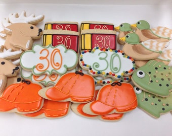 Hunting Decorated Sugar Cookies-1 dozen