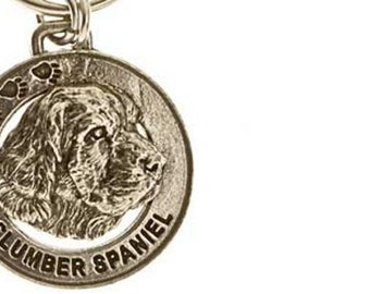 Pewter ~ Clumber Spaniel Keychain ~ DK056