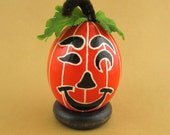 Pysanky Pisanki Ukrainian Polish Easter Egg Halloween Pumpkin Hand Decorated Chicken Egg