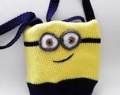 Minion Tote Bag, Book Bag, Crocheted