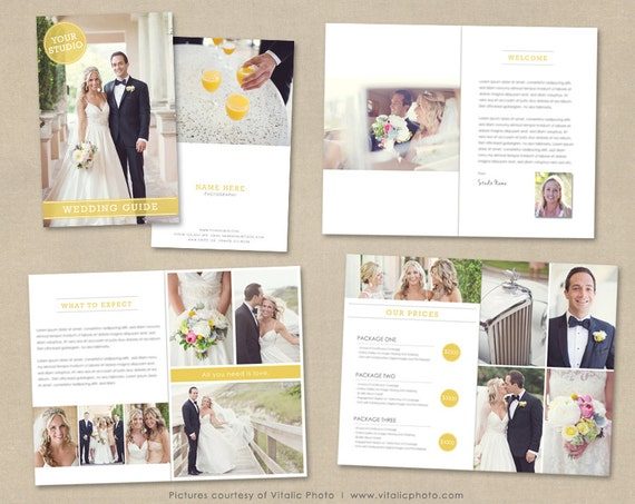 Wedding Photography Magazine Template Client Welcome Guide