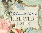 Reserved Michelle La Belle updated shipping