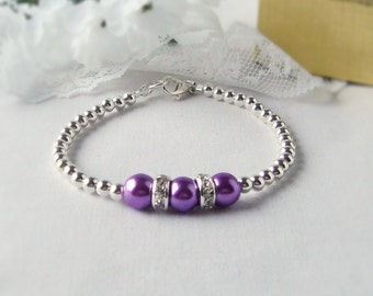 Gift Giving, The TRIIIXXY Friendship Bracelet, This One's in Purple and Mauve Mix and Match -- One, Two or a Set of Three