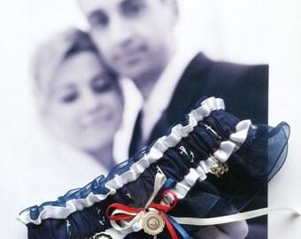 US Navy Wedding Garter  -   Full Speed Ahead