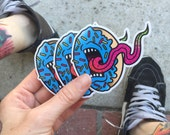 Screaming Donut Decal - Blue
