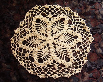Vintage Hand Crocheted Cotton Doily/10""