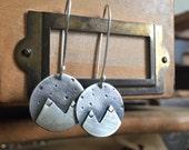 Mountain earrings - silver mountain jewelry