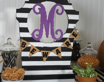 Unfinished Monogram Wooden Tombstone! Perfect decoration for Halloween!