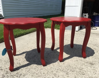Set of Red Tables