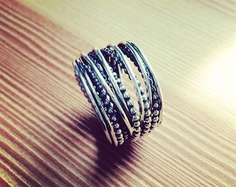 Twisted ring/Sterling silver